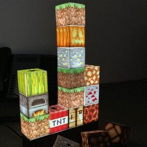 MINECRAFT LAMPARA BLOCK BUILDING
