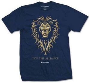 WARCRAFT CAMISETA FOR THE ALLIANCE T-XL