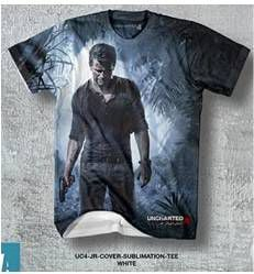 UNCHARTED 4 CAMISETA CHICO JR COVER SUBLIMATION TEE T-S