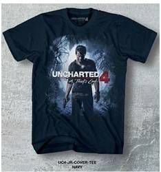 UNCHARTED 4 CAMISETA CHICO JR COVER TEE NAVY T-XL