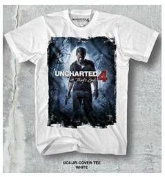 UNCHARTED 4 CAMISETA CHICO JR COVER TEE WHITE T-S