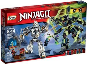 LEGO NINJAGO COMBATE EN EL TITAN ROBOT