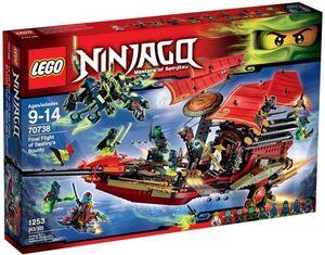 LEGO NINJAGO EL VUELO FINAL DEL BARCO DE ASALTO NINJA