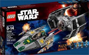 LEGO STAR WARS REBELS TIE ADVANCED DE VADER VS A-WING STARFIGHTER