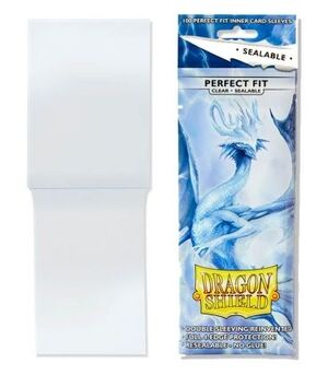 FUNDAS PERFECT FIT SEALABLE CLEAR DRAGON SHIELD - PAQUETE DE 100