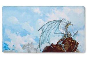 TAPETE DRAGON SHIELD CAELUM SILVER EDICION LIMITADA 61 X 35 CM
