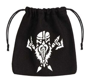 BOLSA DADOS Q-WORKSHOP DWARVEN NEGRO / BLANCO