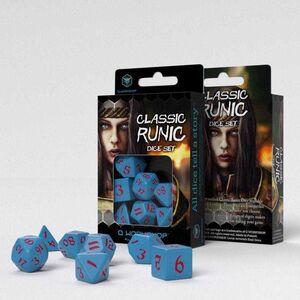 DADOS Q-WORKSHOP SET DE 7 CLASSIC RPG RUNIC ROJO Y AZUL