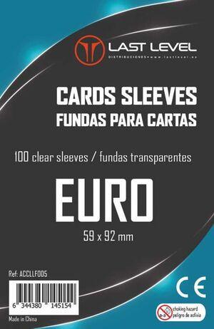 FUNDAS LAST LEVEL EURO 59MM X 92MM (100)
