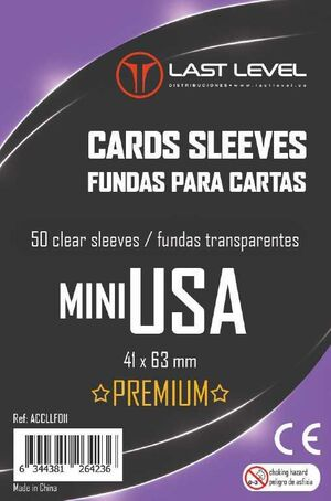 FUNDAS LAST LEVEL MINI USA PREMIUM 41MM X 63MM (50)