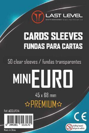 FUNDAS LAST LEVEL MINI EURO PREMIUM 45MM X 68MM (50)