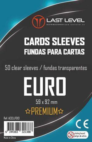 FUNDAS LAST LEVEL EURO PREMIUM 59MM X 92MM (50)