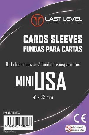 FUNDAS LAST LEVEL MINI USA 41MM X 63MM (100)