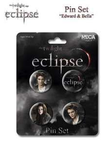 ECLIPSE SET DE 4 PINS EDWARD & BELLA