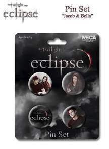 ECLIPSE SET DE 4 PINS JACOB & BELLA