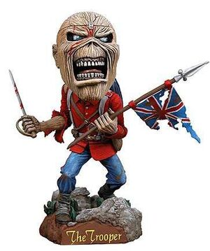 IRON MAIDEN EDDIE THE TROOPER CABEZON 18CM