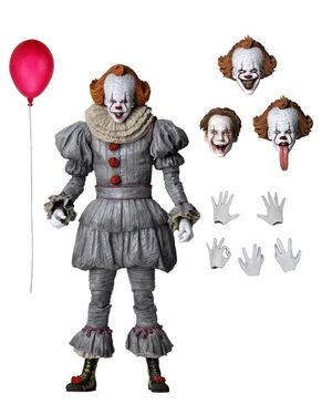 ULTIMATE PENNYWISE FIGURA 18 CM SCALE ACTION FIGURE IT CHAPTER 2 2019 MOVIE