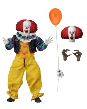 IT FIGURA 20 CM PENNYWISE CLOTHED ACTION FIGURE IT 1990