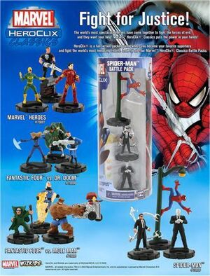 MARVEL HEROCLIX - FANTASTIC FOUR VS. MOLE MAN BATTLE PACK