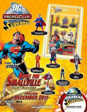DC HEROCLIX - SUPERMAN BATTLE FOR SMALLVILLE FAST FORCES 6 PACK