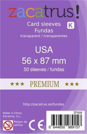 FUNDAS ZACATRUS USA PREMIUM 56 MM X 87 MM (55)