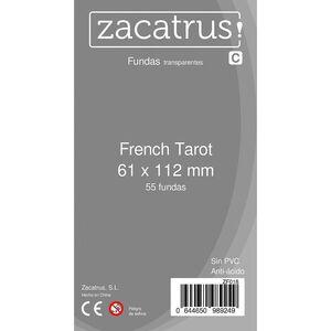 FUNDAS ZACATRUS FRENCH TAROT 61 MM X 112 MM (100)