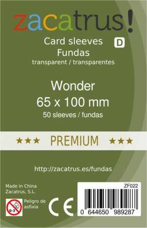 FUNDAS ZACATRUS WONDER PREMIUM 65 MM X 100 MM (55)