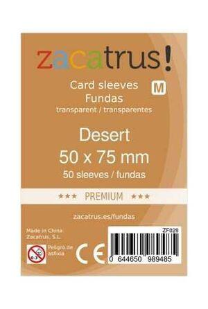 FUNDAS ZACATRUS DESERT PREMIUM 50 MM X 75 MM (50)