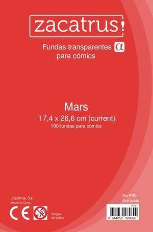 FUNDAS ZACATRUS MARS PARA COMIC 174 MM X 266 MM (100)