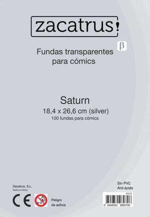 FUNDAS ZACATRUS SATURN PARA COMIC 184 MM X 266 MM (100)