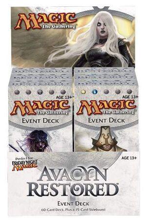 MAGIC - AVACYN RESTORED DISPLAY EVENT DECKS (6) INGLES
