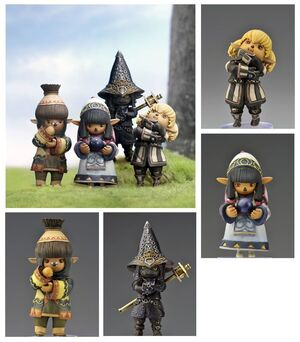 FINAL FANTASY XI ONLINE TRADING ARTS MINI TARUTARU (SET 4 FIGURAS)