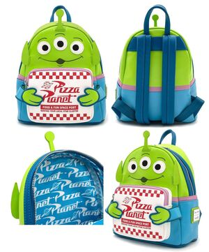 TOY STORY MOCHILA ALIEN PIZZA PLANET
