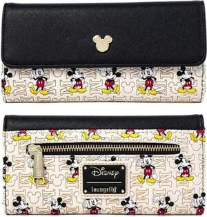 MICKEY Y MINNIE MOUSE CARTERA HARDWARE AOP