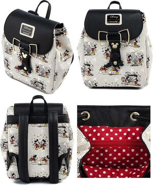 MICKEY Y MINNIE MOUSE MOCHILA BOW HARDWARE AOP