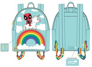 DEADPOOL 30TH ANNIVERSARY MOCHILA UNICORN RAINBOW
