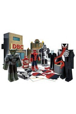 ULTIMATE SPIDERMAN FIGURAS PAPERCRAFT BATTLE AT OSCORP DELUXE PACK