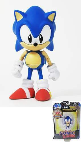 SONIC FIG 13CM THROUGH TIME - SONIC 1991