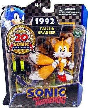 SONIC FIG 7CM GAME PACKS - TAILS Y ARAÑA