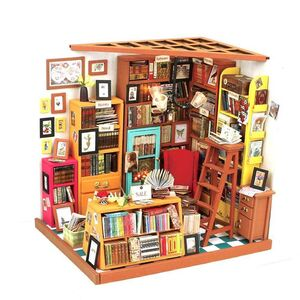 DIY MINIATURE HOUSE SAM'S STUDY ROOM