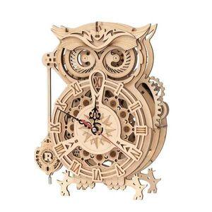 MECHANICAL GEARS OWL CLOCK