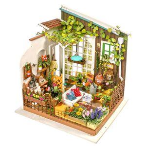 DIY MINIATURE HOUSE MILLER'S FLOWER HOUSE