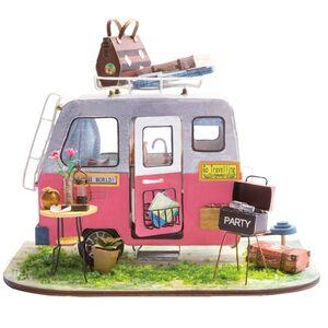 DIY MINIATURE HOUSE HAPPY CAMPER