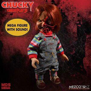 CHUCKY EL MUÑECO DIABOLICO 3 FIGURA 38 CM CHUCKY CARA PIZZA MEGA TALKING SC