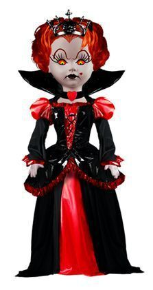 LIVING DEAD DOLLS ALICE IN WONDERLAND FIG 23CM - THE RED QUEEN