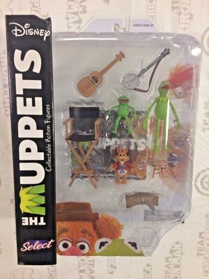 THE MUPPETS PACKS 2 FIGURAS 13 CM KERMITH WITH ROBIN & BEAN BUNNY SERIE 1