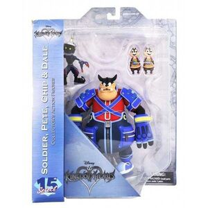 KINGDOM HEARTS PACK 2 FIG 18 CM SOLDIER + PETE + CHIP + DALE SERIE 2