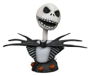 PESADILLA ANTES DE NAVIDAD LEGENDS IN 3D BUSTO 1/2 JACK SKELLINGTON 25 CM