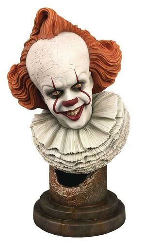 IT 2 BUSTO RESINA 25 CM 1/2 SCALE PENNYWISE LEGENDS IN 3D IT GALLERY