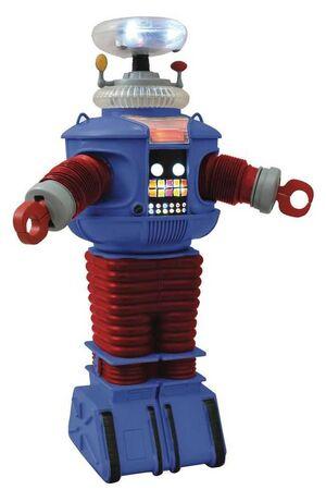 LOST IN SPACE FIGURA 25CM RETRO ROBOT B9 ELECTRONICO CON LUZ Y SONIDO